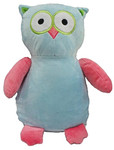 Blue/Pink Owl Cubby with a personalised teddy bear message