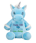 Give a Blue Unicorn Cubby message gift to someone you love