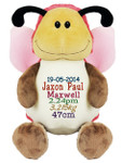 Personalised Hug-Me Cubby - Butterfly (Birth Design)