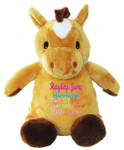 Personalised Hug-Me Cubby - Horse (Birth Design)