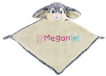 Personalised Cubby Blankie - Grey Bunny