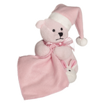 Personalised Embroider Buddy Sleepy Head Blankie - Pink Bear