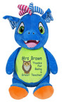 Personalised Message Bear - Signature Blue Dragon Hug-Me Cubby