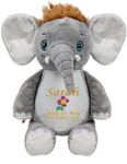 Personalised Message Bear - Signature Elephant Hug-Me Cubby
