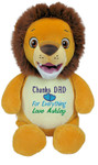 Say thank you with a personalised Hug-Me Cubby - Signature Lion  message bear