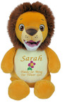 Personalised Message Bear - Signature Lion Hug-Me Cubby