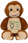 Add a motif to your Personalised Hug-Me Cubby - Signature Monkey message to make it pop