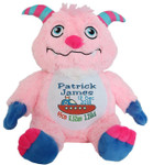 Personalised Remembear - Pink Monster (Birth Design)