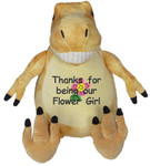 Personalised Message Bear - Orange Dinosaur Embroider Buddy
