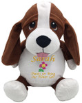 Personalised Message Bear - Hound Dog Embroider Buddy
