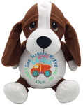 Personalised Embroider Buddy - Hound Dog (Birth Design)
