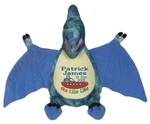 Personalised Embroider Buddy - Blue Dinosaur (Birth Design)