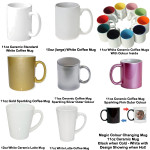 Personalised Mug - Wicker Pattern Colour Choice
