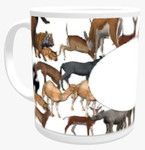 Personalised Mug - Animal Themed Background