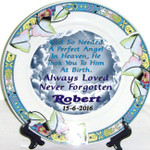 Lotus Leaf Remembrance Plate - Stillborn/Miscarriage