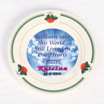 Strawberry Rim Remembrance Plate - Stillborn/Miscarriage