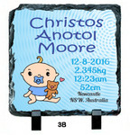 Personalised Birth Design - 150mm Slate Print
