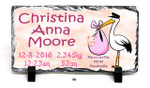Personalised  Birth Design - 120x220mm Slate Print