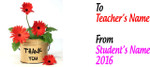 Teacher Thank You Mug - Flower Bucket