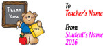 Teacher Thank You Mug - Teddy Bear