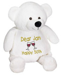 Personalised Message Bear - White Bear Embroider Buddy