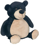 Personalised Embroider Buddy – Black Bear with a personalised teddy bear message