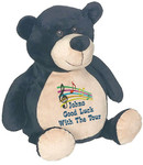 Personalised Message Bear - Black Bear Embroider Buddy