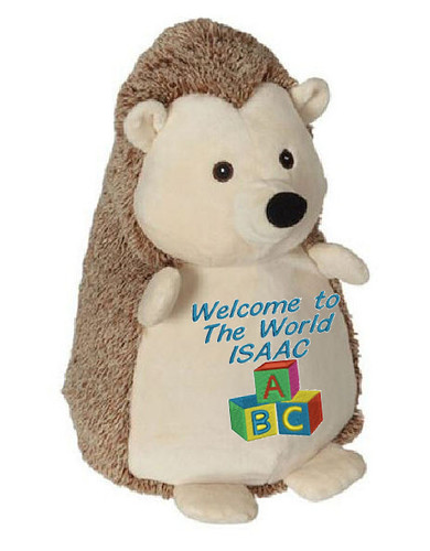 Personalised Message Bear - Hedgehog Embroider Buddy