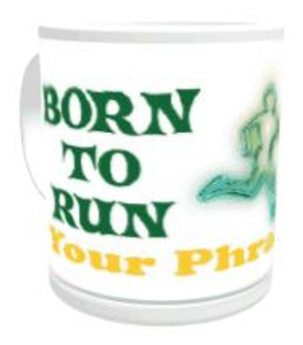 11oz Personalised Mug - Born to Run / Forced to Work (Male)
