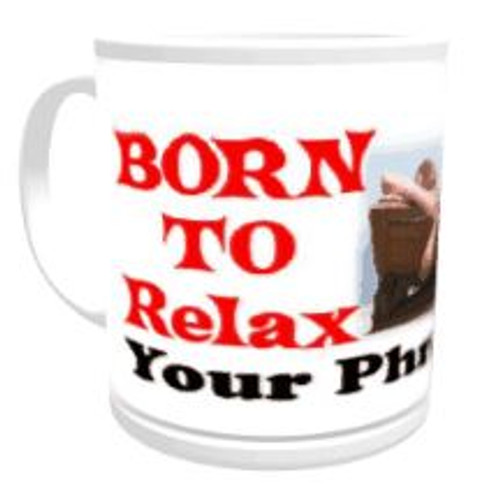 11oz Personalised Mug - Born to Relax / Forced to Work (Female)