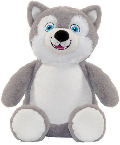 Personalised Message Bear - Husky Cubby
