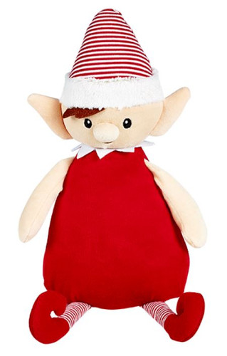 Red Elf  Christmas Cubby