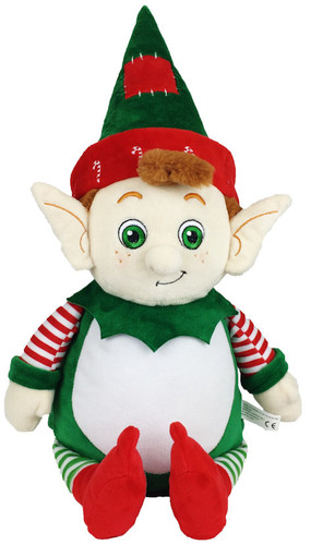 Green Elf Cubby with a personalised Christmas design