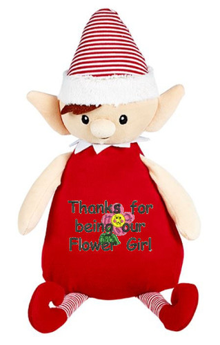 Personalised Message Red Elf Cubby