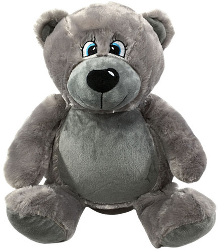 Personalised Message Bear - Bebi Beau Grey Bear