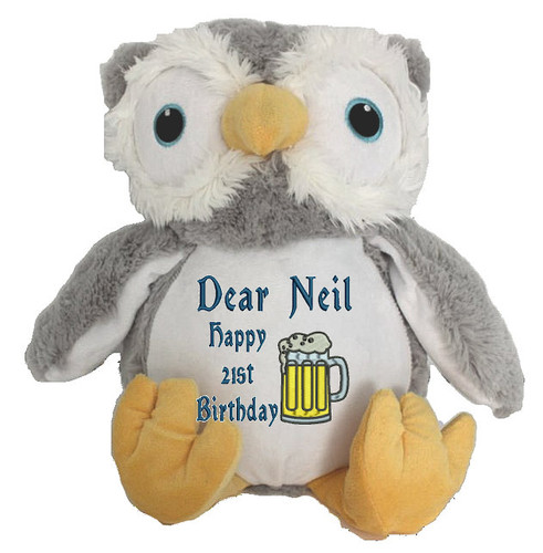 Personalised Message Bear - Owl Snugabudz