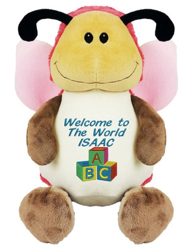 Personalised Message Bear - Butterfly Hug-Me Cubby