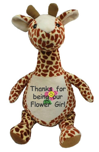 Personalised Long Neck Giraffe Cubby with any message on it