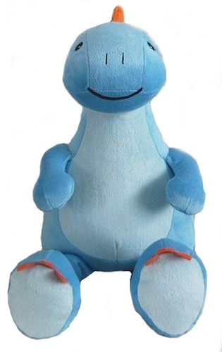 Personalised Hug-Me Cubby - Blue Dinosaur (Birth Design)