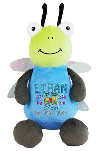 Personalised Hug-Me Cubby - Dragonfly (Birth Design)