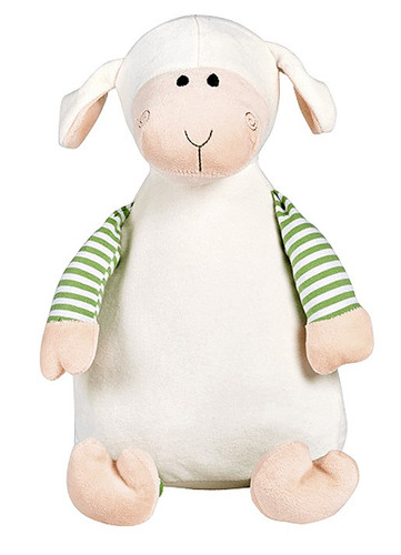Personalised Hug-Me Cubby - Oeko Lamb (Birth Design)