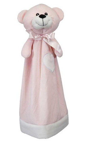 Personalised Embroider Buddy Blankie - Pink Bear
