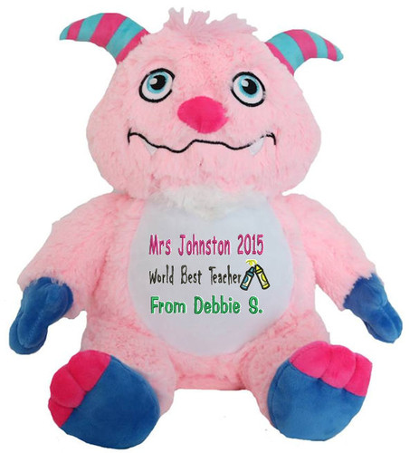 Personalised Message Bear - Pink Monster Remembear