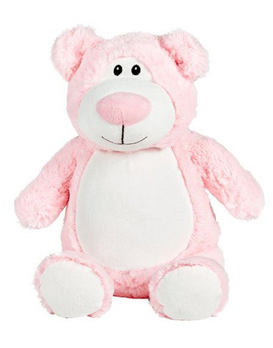 Personalised Hug-Me Cubby - Pink Bear (Birth Design)