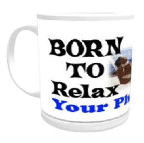 Personalised Mug - Born to Relax / Forced to Work (Male)