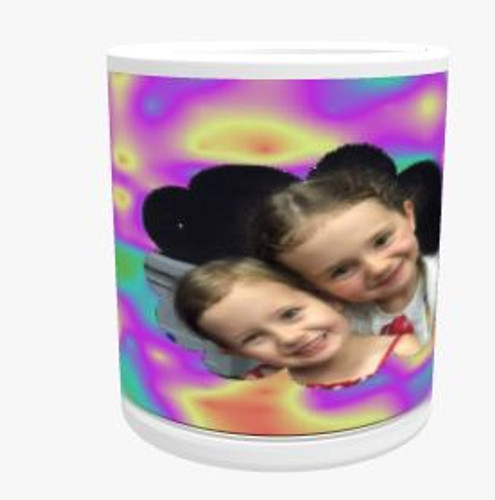 Personalised Mug - Rainbow Cloud Background