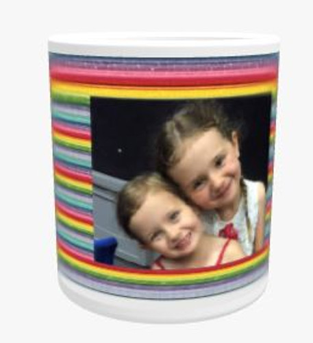 Personalised Mug - Stripes Background