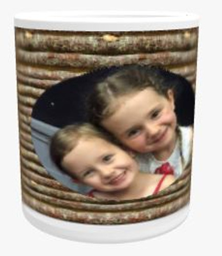 Personalised Mug - Wooden Twigs Background