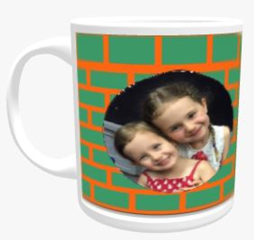 Personalised Mug - Block Pattern Colour Choice