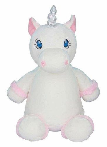 personalised White Unicorn Cubby with birth details